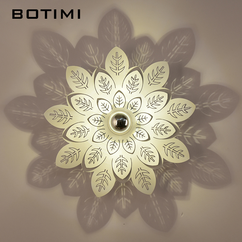 BOTIMI 3D Wall Lamp Shadow Decor Wall Sconce For Living Room Corridor Luminaire LED lamparas de pared Home Room Lighting Fixture modern a