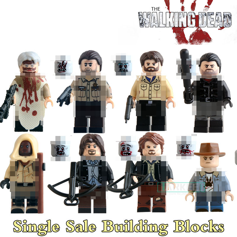 KL9003 Educational Blocks Carl Daryl Rick Negan The Walking Dead Figures Super Hero Star Wars Building Bricks DIY Figure Toys building blocks the walking dead figures rick negan carl daryl star wars super heroes set assemble bricks kids diy toys hobbies