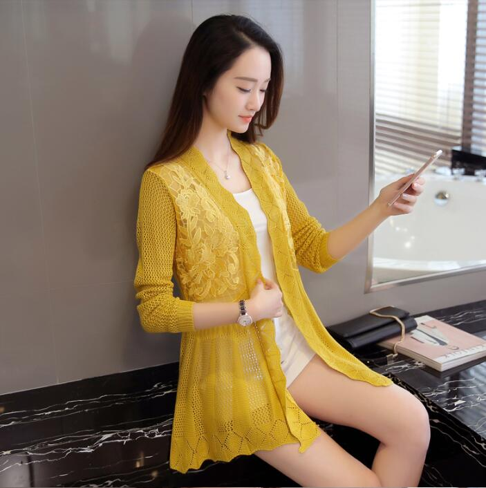 d854a509a Summer 2017 New Fashion Sweater Lace Cardigan women 5 Style-in ...