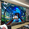 Beibehang Large Custom Wallpapers Underwater World Aquarium 3D Stereo TV Background Home Decorative Paintings