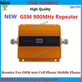 2pc/lot Newest yellow color GSM 900  LCD display cell phone signal repeater GSM repeater booster,GSM signal booster gsm booster