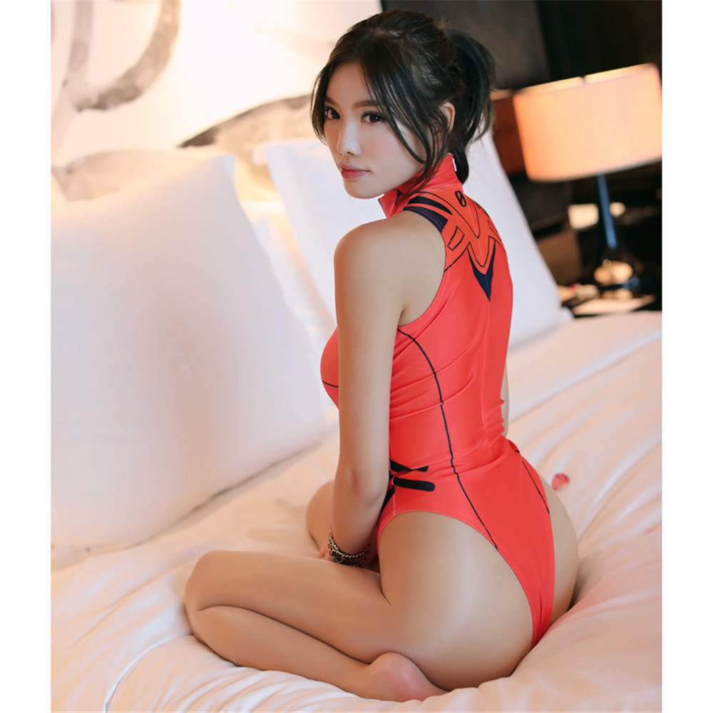 Japan Anime tankini swimsuits Women Girls Sexy Bikini Swimwear Bodysuit sexy lingerie Jumpsuits DVA Asuka Cosplay Costumes