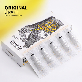 QUELLE Tattoo Needles Revolution Cartridge Round Shader #10 (0.30mm needle) RC1003RS RC1005RSRC1007RS RC1009RS RC1014RS 20 pcs топ quelle lascana 461776