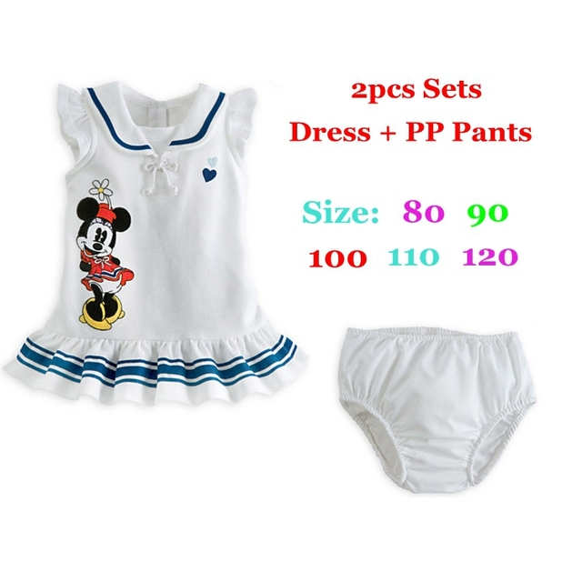 Summer 2016 Minnie Baby Girl Clothes Children's Clothing Ropa Bebe Vetement Enfant Roupas Infantis Conjuntos Girls Clothing Sets