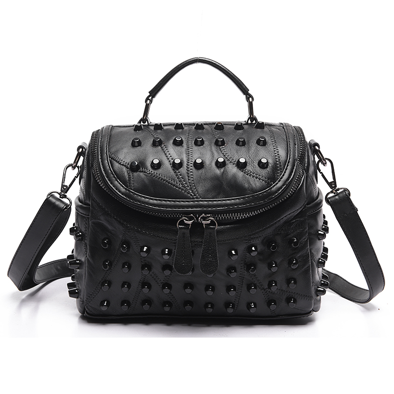 Luxury Women Genuine Leather Bag Sheepskin Messenger Bags Handbags Women Famous Brands Designer Female Handbag Shoulder Bag Sac luxury genuine leather bag female designer smiley trapeze ladies hand bags handbags women famous brands shoulder bags sac femme