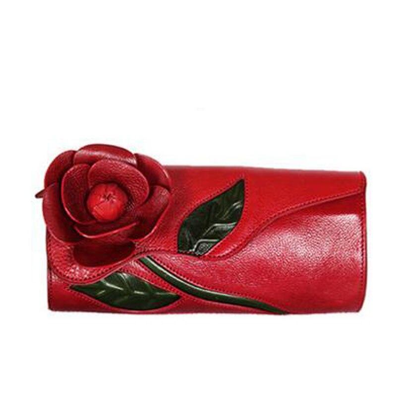 Здесь продается  women genuine leather bag famous brands  quality Head layer cowhide Handmade stereo flowers women Clutch bags national wind bag  Камера и Сумки