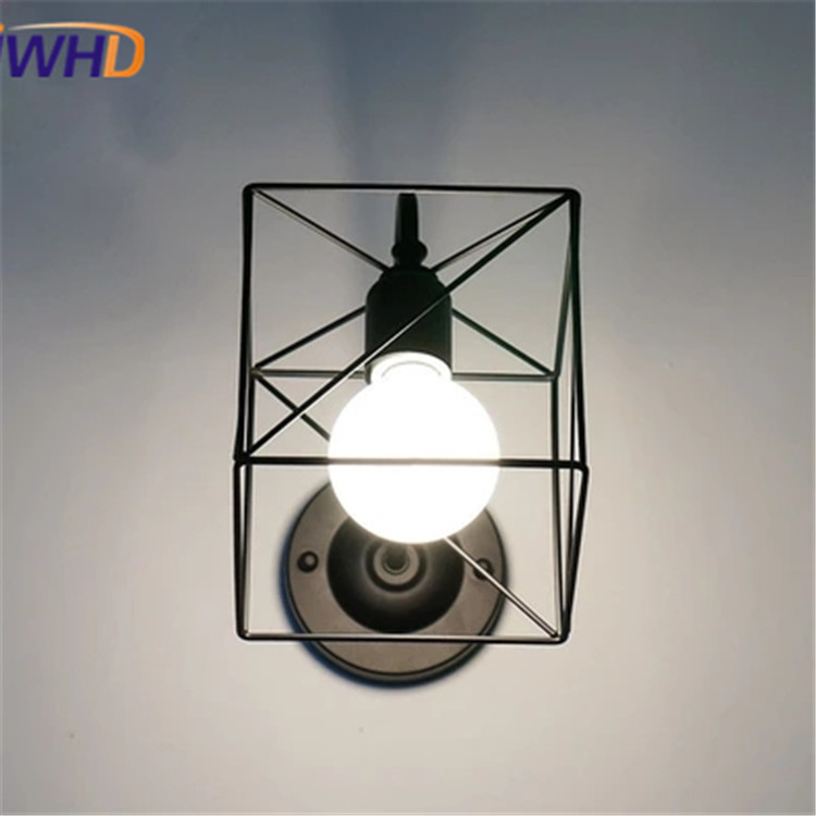 Nordic Style Retro Vintage Industrial wall sconce Iron Cage Loft Antique Wall Light Fixtures Luminaire Wall Lamp Home Lighting цена