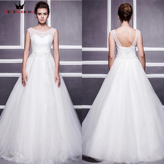 Custom Made Romantic Wedding Dresses 2018 A line Backless Beading ...