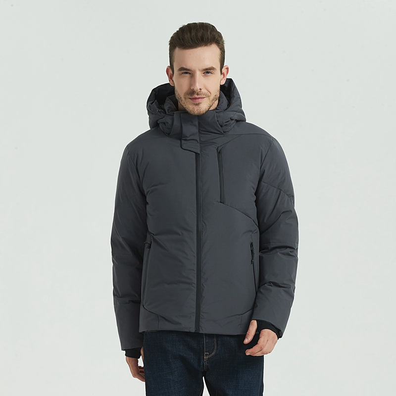 new 2019 Mens Winter   Down     Coats   90% White Duck   Down   Padded Jackets Men 2019 New Hooded   Down   Parkas Outwear Male Thick Overcoat