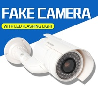 New Design Waterproof Fake Dummy CCTV Security Camera Flashing LED Indoor Outdoor Imitation Thief