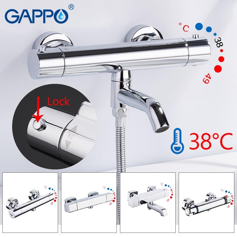 GAPPO Bathtub faucet thermostatic faucet bathroom mixer tap bath faucets Waterfall taps bath shower set shower