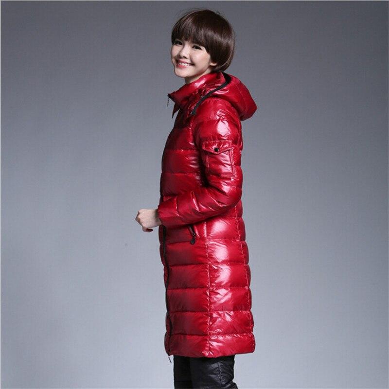 Et Capuchon Épaissir Haute Vestes Slim Marque X Chaud Wt1282 Qualité Femelle Vers Bas Le longue Manteaux Doudoune Femmes red Black Fit À f6qxO6