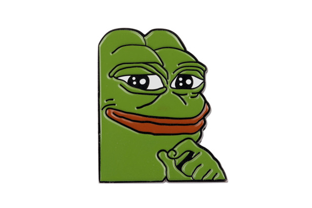 Internet Meme Smug Frog Pepe Lapel Pin Sad Dank Collector