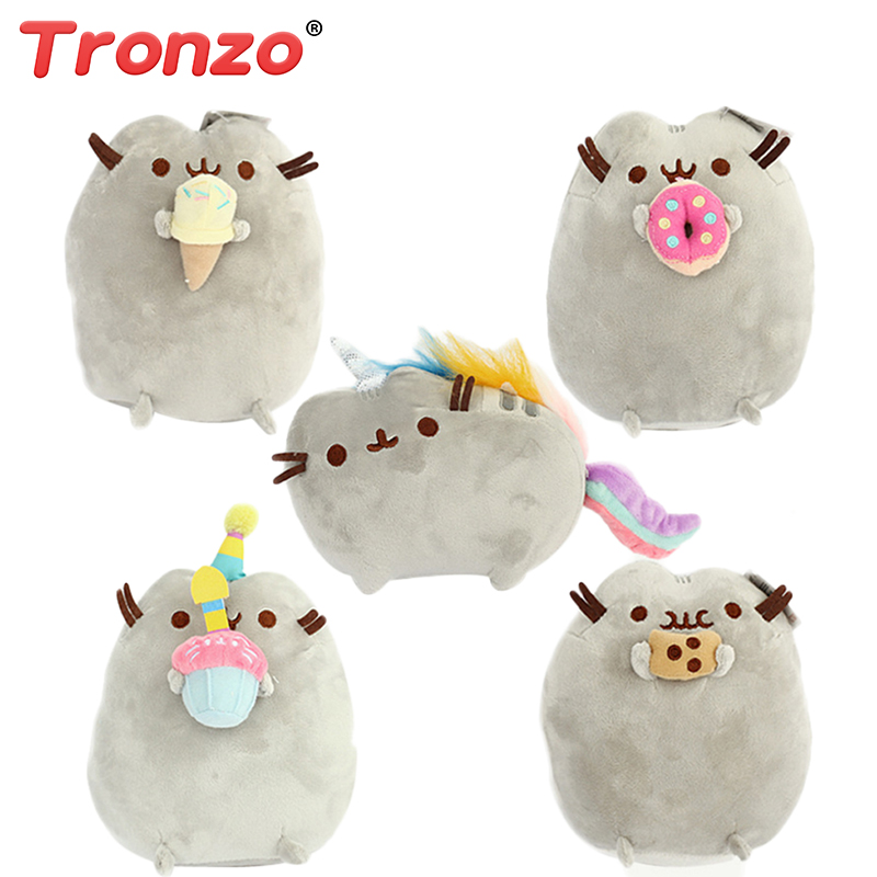Tronzo 15cm 5 Style Pusheen Cat Soft Short Plush Pillow Donuts Cake Unicorn Ice Cheese Kawaii Stuffed Animal Plush Toys For Girl cartoon animal toy unicorn cat plush pillow soft unicorn horse cushion plush toys new style doll