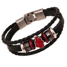 Naruto Akatsuki Uchiha Itachi Cosplay Accessories Symbol Bracelet