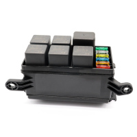 12 Slot Fuse Relay Box with 12V 40A Relay Fuses for Automotive Marine M8617