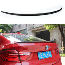 цены For BMW F26 Spoiler X Series X4 F26 Xdrive25i xdrive28i Carbon Fiber Rear Spoiler Rear View 2014 2015 2016