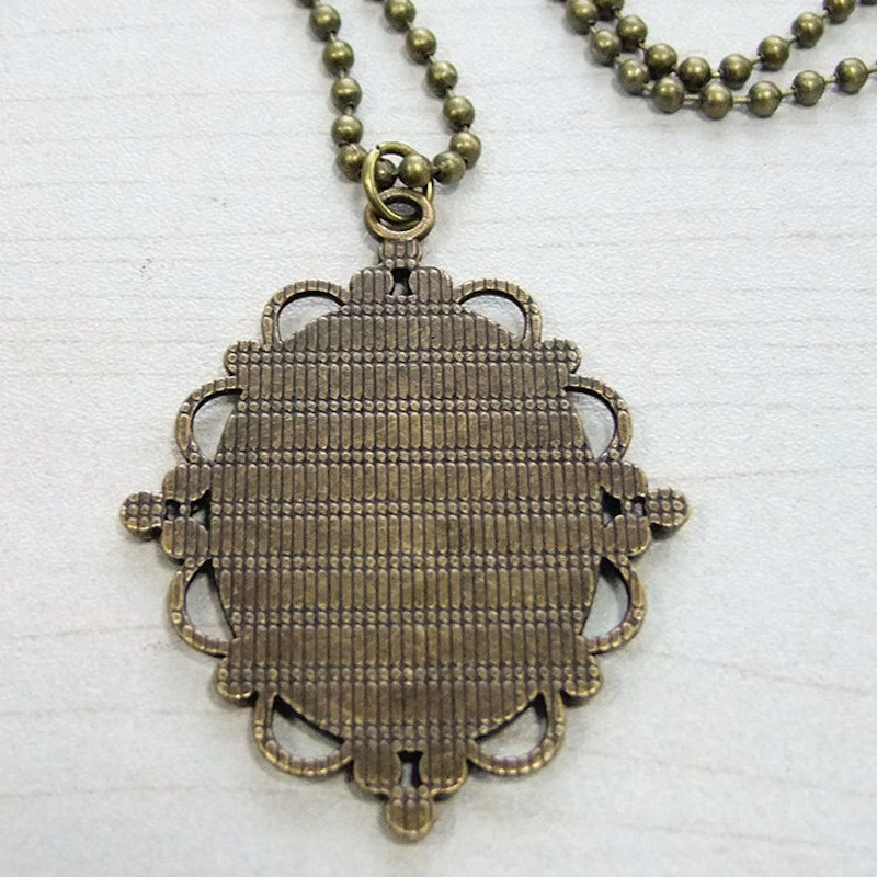 Sublimation custom made necklaces pendants court style can print sublimation custom made necklaces pendants court style can print picture photos thermal transfer women jewelry wholesale in pendants from jewelry aloadofball Choice Image