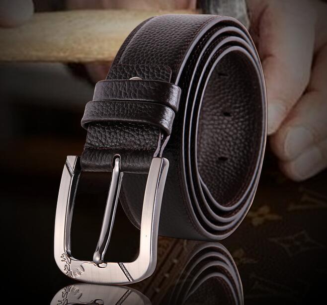 NEW Fashion Men Belt Buckle 100 Genuine leather Belt For men Vintage Male For men Belt