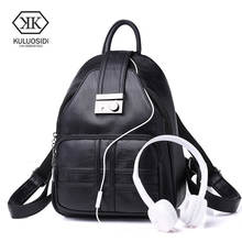 KULUOSIDI Women Multifunction Backpack PU Leather Shoulder Bag Large Capacity Backpack Female School Bag Girl Travel Bag Mochila casual double zipper women backpack drawstring pu leather bagpack large capacity travel bag female rucksack shoulder bag mochila