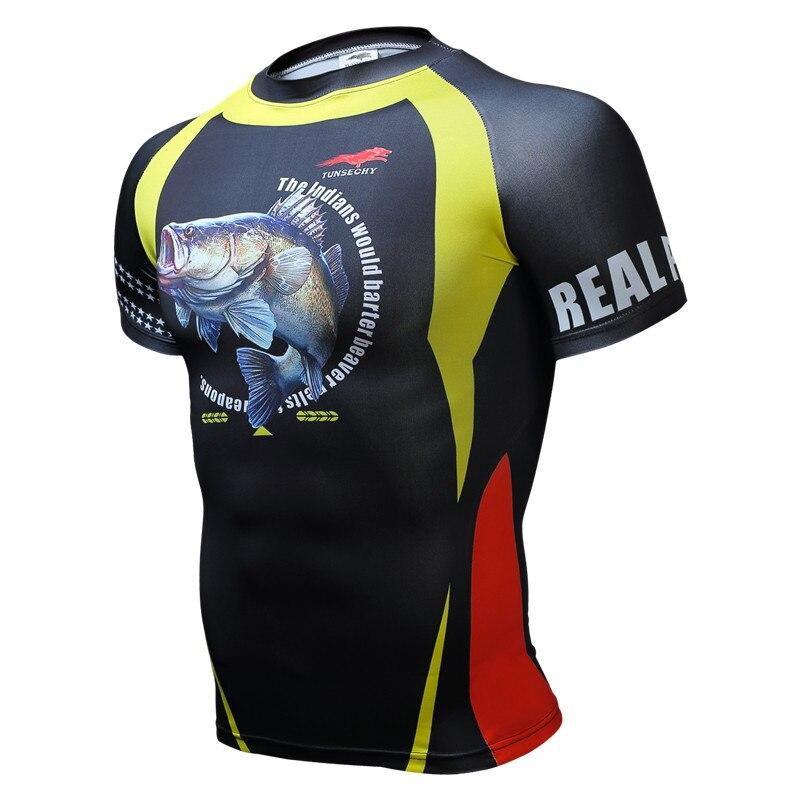 Prix pour 3D MMA Rashguard T-shirt Vêtements De Compression Chemise Vêtements À Séchage rapide Plus La Taille T Shirt Hip Hommes