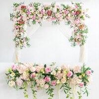 1m Simulation Plant Artificial Flowers Row Flower Wall Wedding Arrangement Decor DIY Pavilion Decor Arch Flowers Window Flores