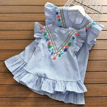 купить mother and daughter dress boho style kids matching outfits big sister little sister mom and me matching dresses girls clothes по цене 796.55 рублей
