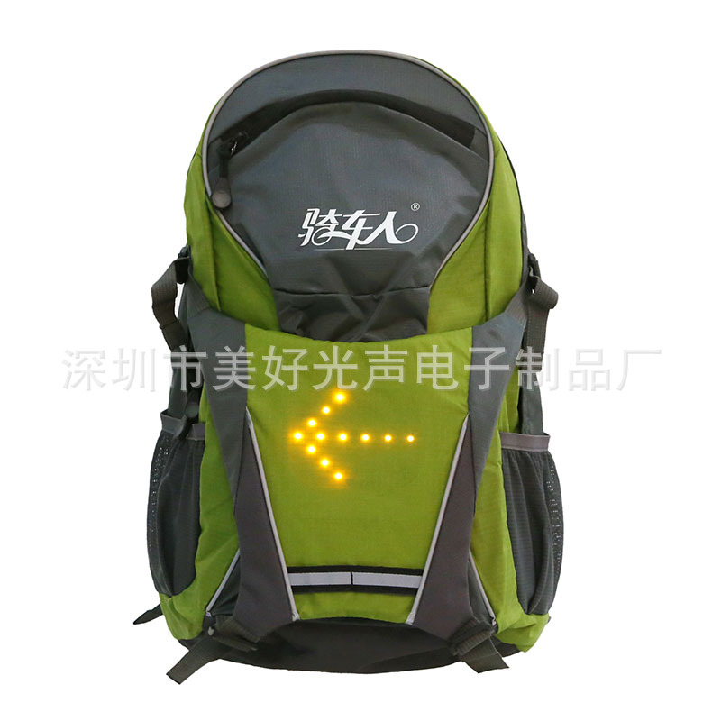 ФОТО Cycling Motorcycle High Visiblity 18L Backpack Bag With Turn Signal Reflective Vest Backpack for Night Cycling Safety
