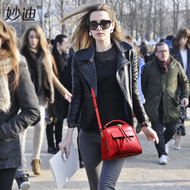 A2003MIAODE Famous Brand 2017 handbags Cow Leather high quality  shoulder bags women messenger bag  women casual tote
