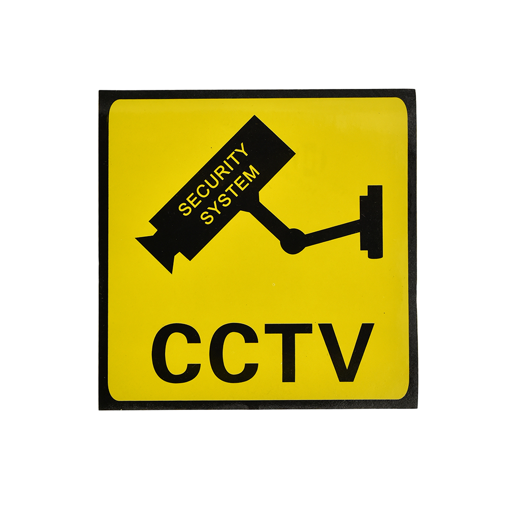 2 Pieces Sticker Wallpaper Waterproof Security IP Camera Stickers Board Warning Signs Decal For CCTV Surveillance Camera Wistino