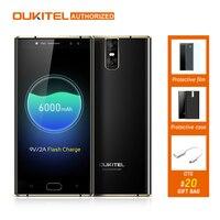 MTK6750T OUKITEL K3 4 מצלמות 4 גרם Smartphone 6000 mAh אנדרואיד אוקטה בליבת 7.0 4 GB + 64 GB 16.0MP + 2.0MP 5.5 inch הסלולר נייד