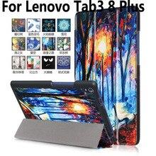 Para Lenovo Tab3 8 Más la Caja de Accesorios de la Tableta Para Lenovo Smart Cover Para Lenovo Tab 3 Plus 8 Pintado TB-8703F TB-8703X