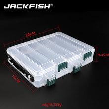 JACKFISH Double Layer PVC Fishing Box 20CM*15CM Bait Storage Case Fishing Lure Box Fishing Tackle Tool for Carp Fishing(China)