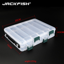 JACKFISH Double Layer PVC Fishing Box 20CM*15CM Bait Storage Case Fishing Lure Box Fishing Tackle Tool for Carp Fishing