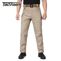 TACVASEN IX9 Men Tactical Pants Breathable Men S Cargo Pants Multi Pockets Slim Casual Pant Male