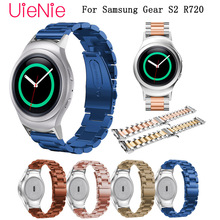 Wristband for Samsung Gear S2 R720 Smart watch band business strap metal stainless steel wrist strap with connector bracelet все цены
