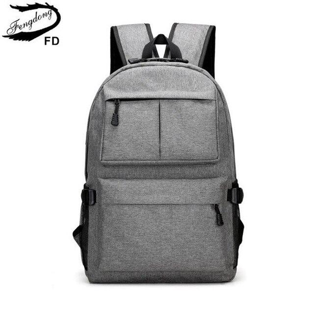 FengDong школьные сумки для мальчиков мужские водонепроницаемые USB рюкзак студент ноутбук сумка 15,6 дети рюкзак школьный рюкзак дропшиппинг 2018