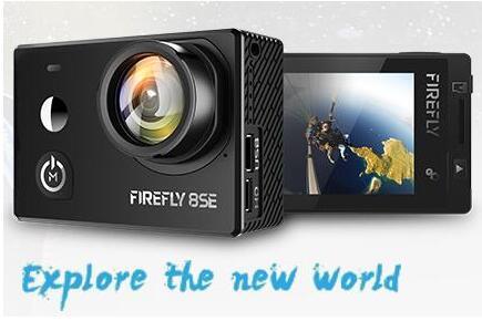 Hawkeye luciole 8SE 8S 6S caméra d'action avec écran tactile 4K 30fps 90/170 degrés Super-vue Bluetooth FPV Sport Action Cam