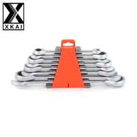 XKAI 8 10 12 13 15 14 17 19mm Ratchet Spanner Combination Wrench A Set Of