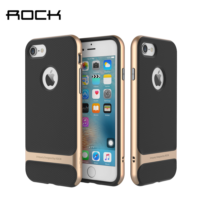For iPhone 7 7 Plus Case Rock Royce Series Luxury Ultra Slim TPU PC Grid Texture Case For Apple iPhone 7 Plus Phone Back Cover in Fitted Cases from Cellphones Telecommunications