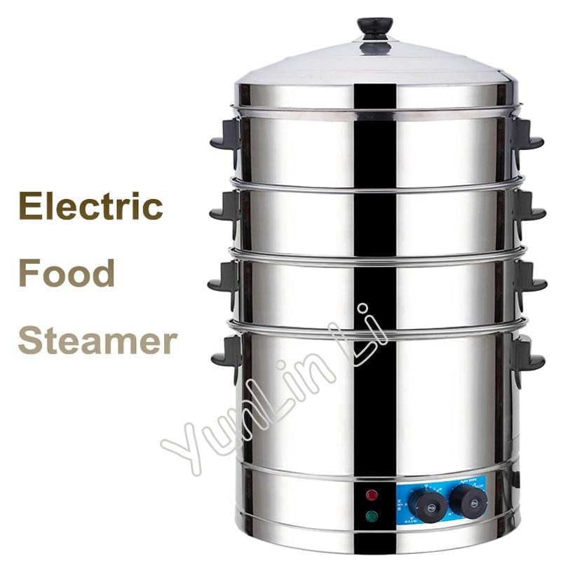 Здесь можно купить  Commercial Electric Steamer Stainless Steel Multi-Functional Steaming Machine With Large Capacity & Time Seting Steamer SYL-400  Бытовая техника
