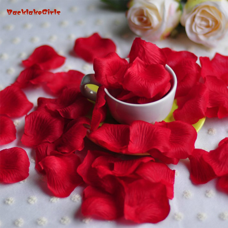 Rose Petals Wedding Accessories 1000 Pieces Lot Cheap Petalas Artificiais Rose Petals Flowers Wedding Decoration Beautiful