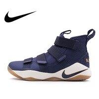 Original Authentic Nike LBJ Men's LEBRON SOLDIER XI LBJ Basketball Shoes Breathable Sports sneakers Lightweight Non slip 897645