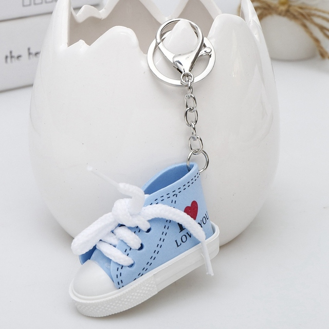 7f685ec4b747a US $0.8 |Mini Sneaker Tennis Shoe Keychain Woman Men Couple Lover I love  You Sports Shoes Keyring Funny Boys Girls Gifts Bag Key Chain-in Key Chains  ...