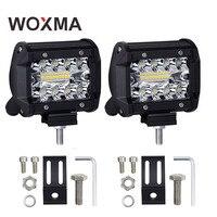 WOXMA 4 Inch LED Work Spot Light 60W 12V 24V Flood Driving Bright Spot Work Light
