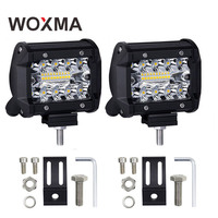 WOXMA LED Work Light 4 Inch Combo Light 60W Offroad 4x4 Led Spot Flood Driving Work