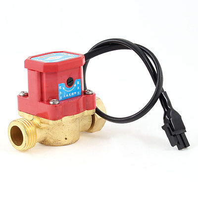 11.11 Free Shippinng 21mm 1/2 PT Male Thread 90W Pump Flow Sensor Liquid Water Heater Switch 21mm male thread bathroom cool hot water heater control valve