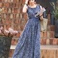 Puyo azul mujeres vestidos sin mangas de verano de maternidad ropa de maternidad ropa de playa de una sola pieza maxi dress 50lm