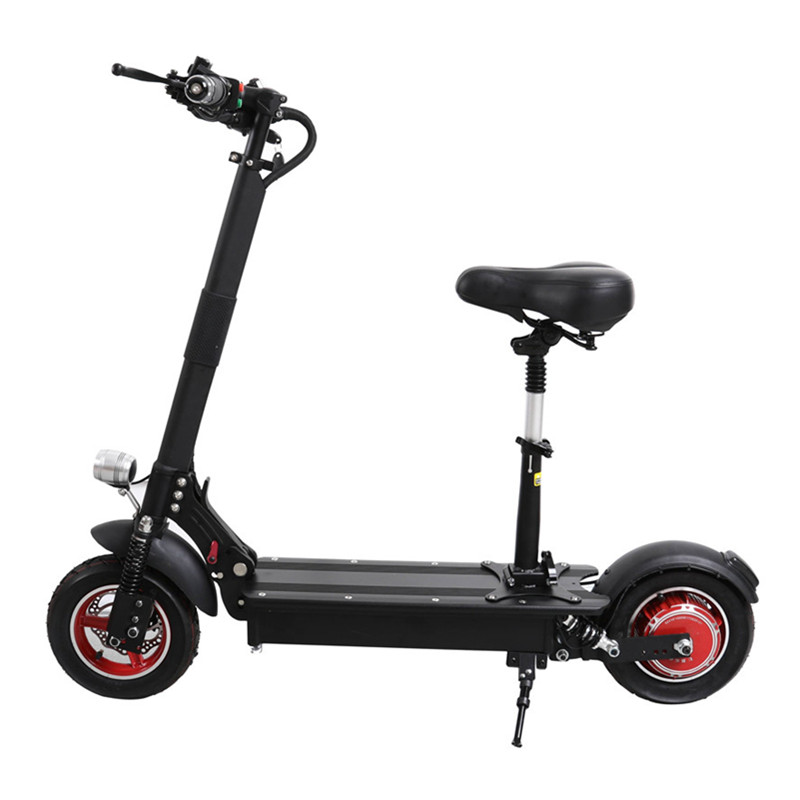 UBGO 1003 Folding Electric Scooter Electric Scooters 10 inch Single Drive 1000W 52V/48V Waterproof Electric Scooter For Adults cool 350w 8 inch electric scooter adjustable height led headlight folding travel tools adults kids toys for gift dropshipping