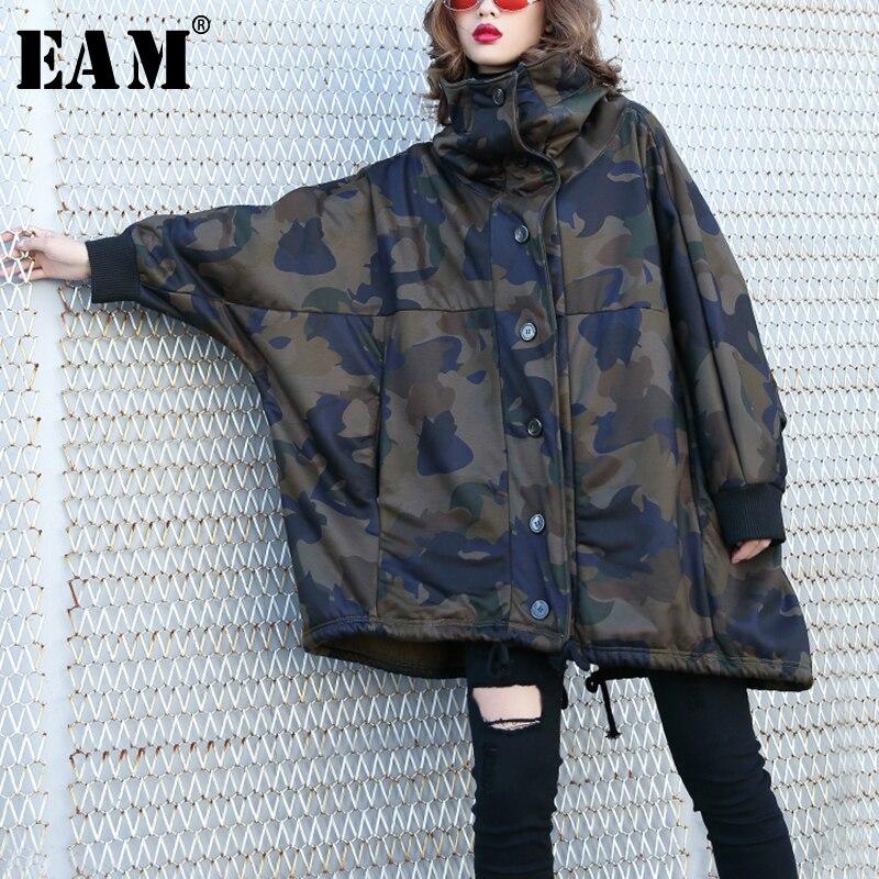 2019 Longues Marée Picture À eam Printemps Manteau Manches Mode De Camouflage Imprimé Épais Color Jk684 Cordon Femmes Capuchon Nouveau Veste Chaud qdCwwY